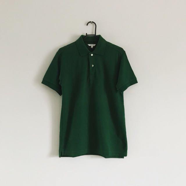 日本帶回 基本款墨綠polo衫