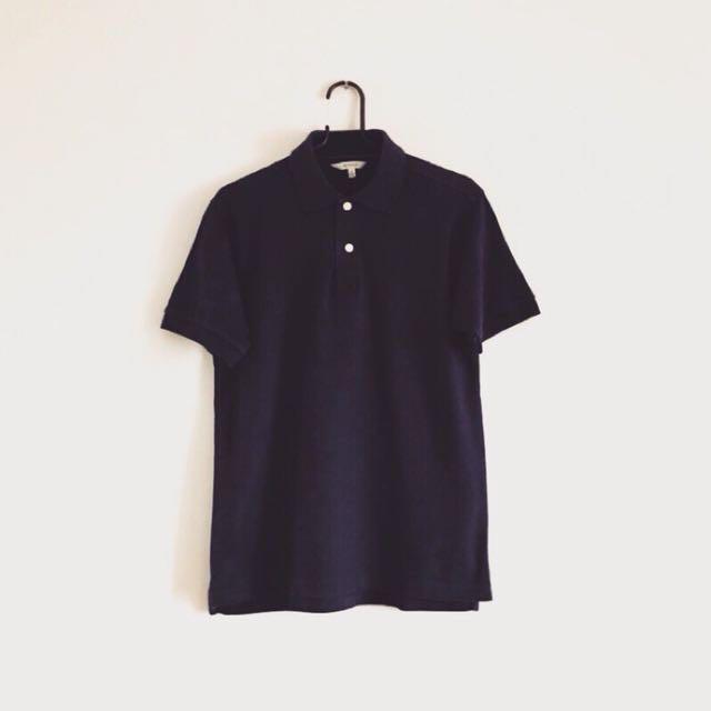 日本帶回 基本款藏藍polo衫
