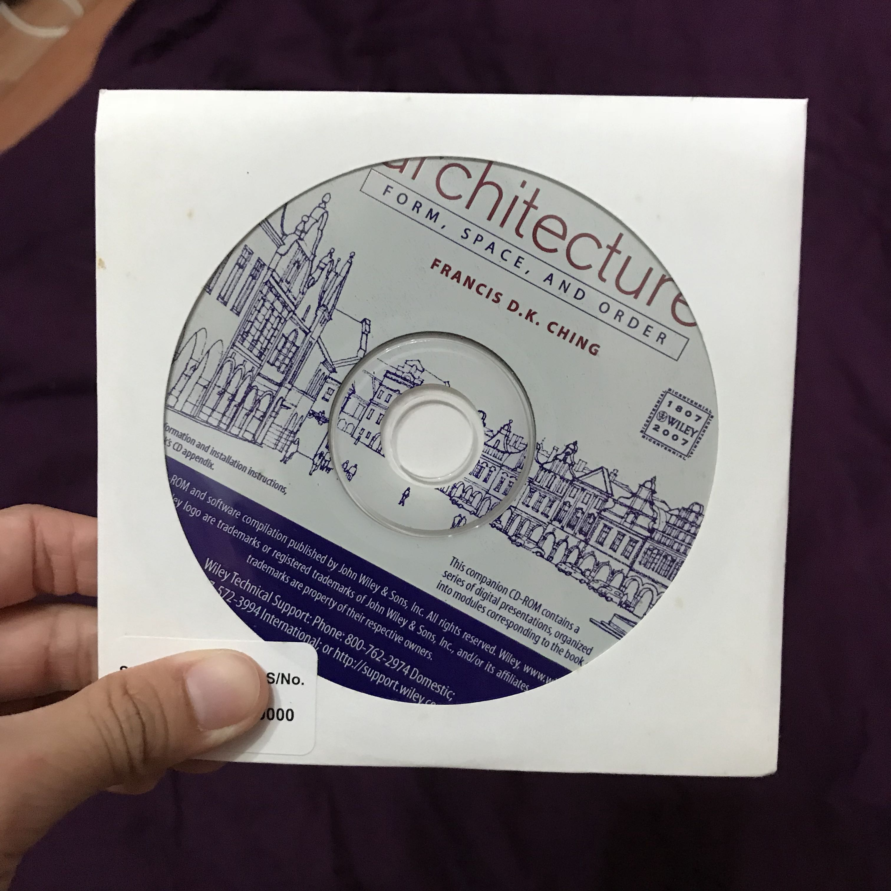 Architecture CD for students - form, space, order Francis D K Ching on