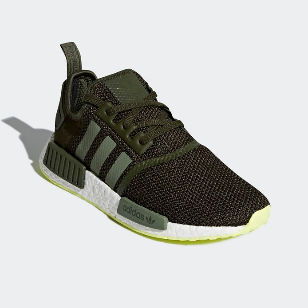 79220c80ed379 Authentic Adidas NMD R1 Night Cargo Base Green Semi Frozen Yellow ...