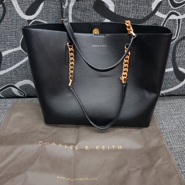 4948f9d79ec9 Authentic Charles & Keith Tote Bag, Luxury, Bags & Wallets on Carousell