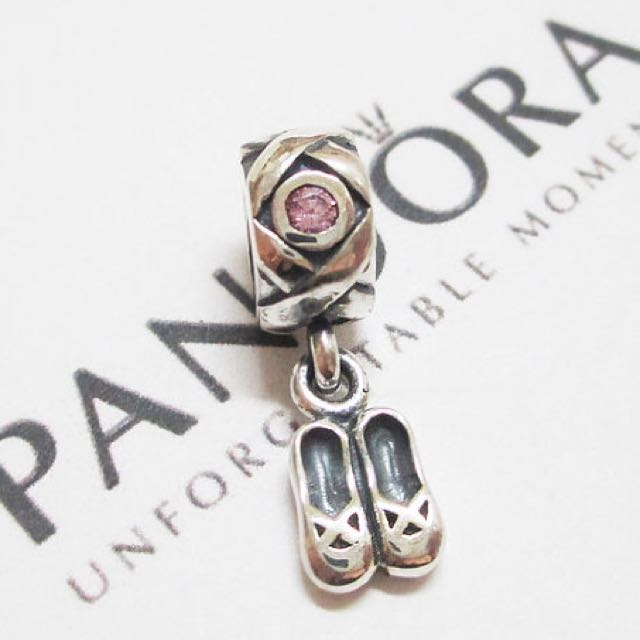 Authentic pandora ballet slipper CZ charm