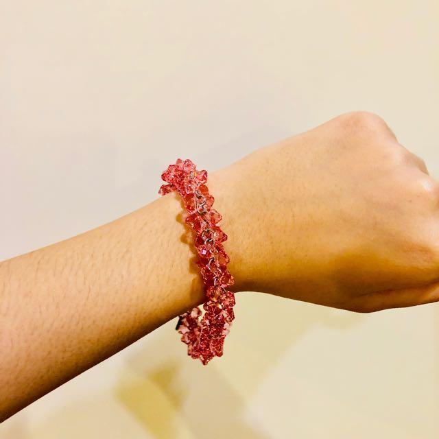 AUTHENTIC SWAROVSKI Pink Crystal bracelet