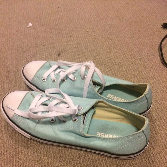 Baby Blue Converse Size 8