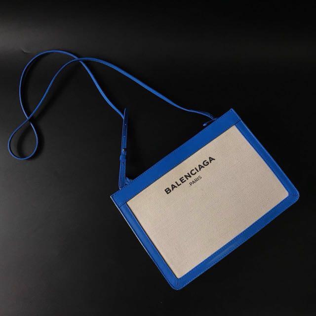 Balenciaga sling blue canvas 2016