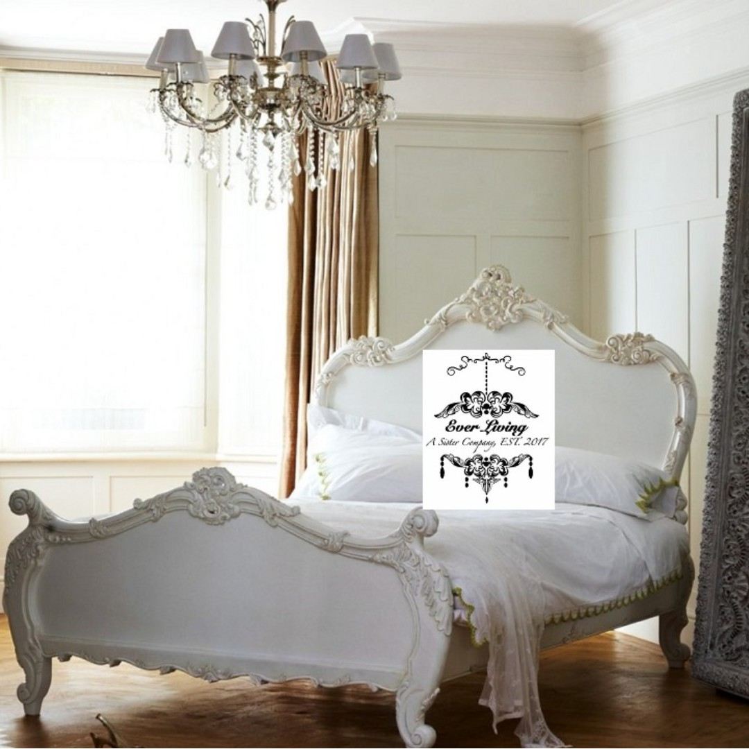 new styles a9d75 8eaea Baroque l Carved bed frame