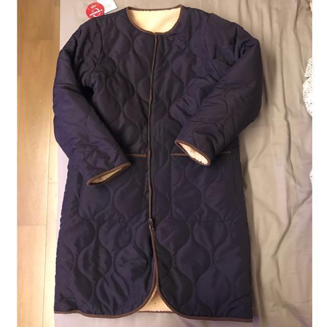 Beams 羔羊雙面穿保暖外套 日本購入 極新