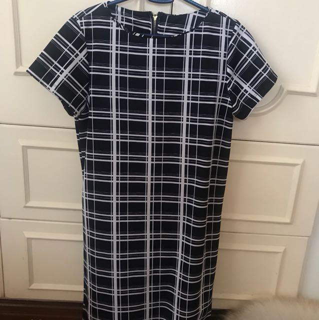 Black & White Plaid Dress