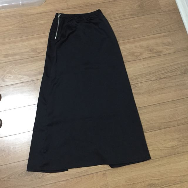Black Maxi Skirt (with back slit)