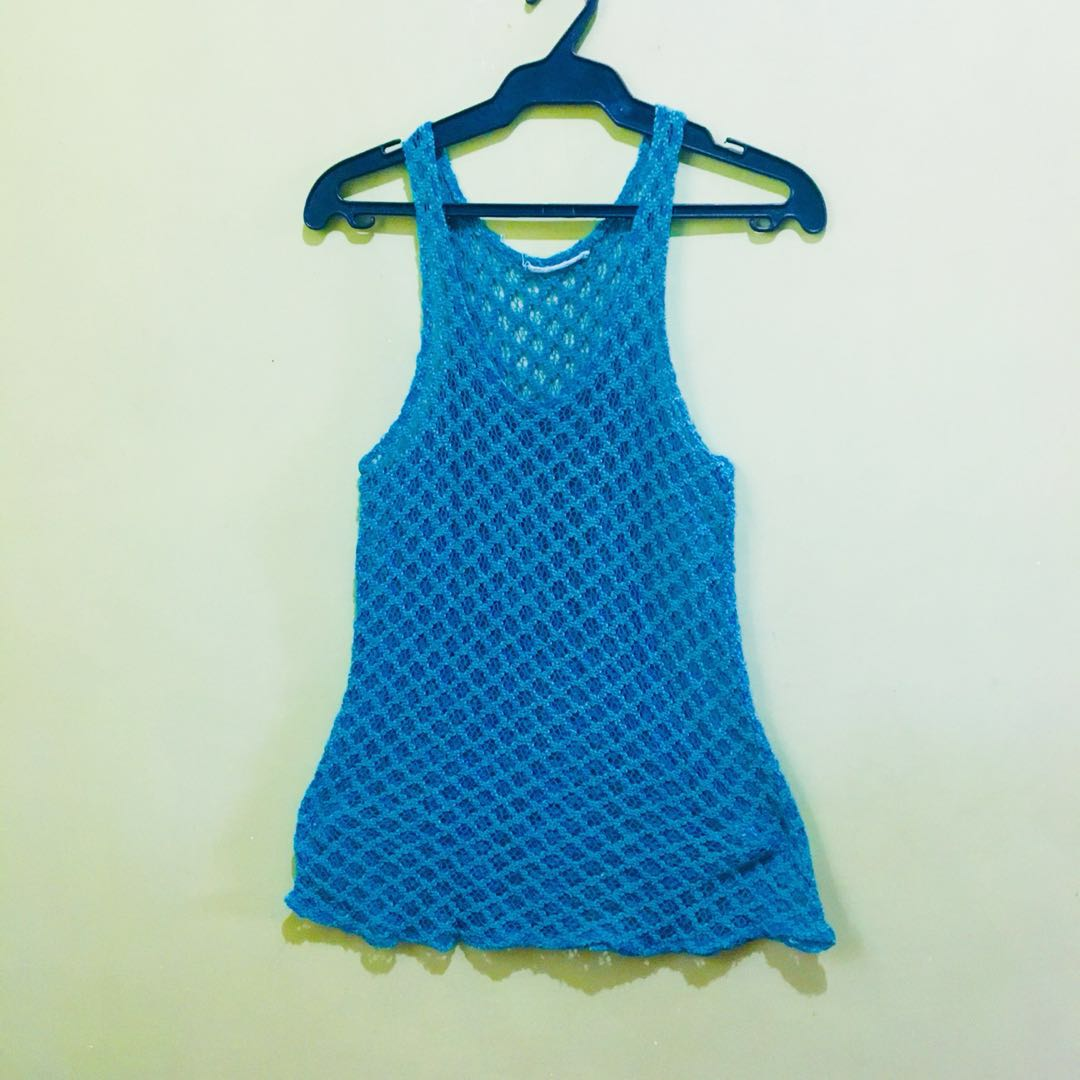 Blue Swimsuit Cover Up / Top
