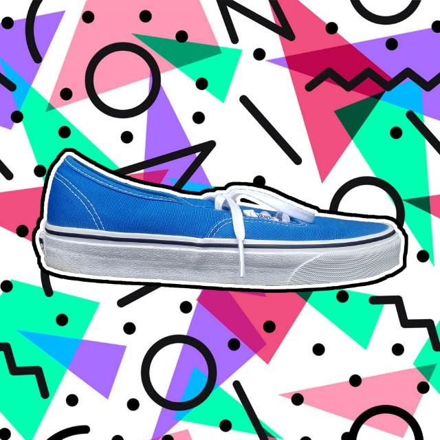 Blue Vans (sz 8.5 mens/ sz 10 womens)