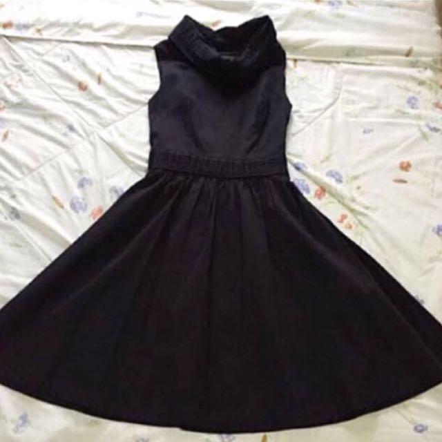 [BN] Turtleneck Elegant Black Dress