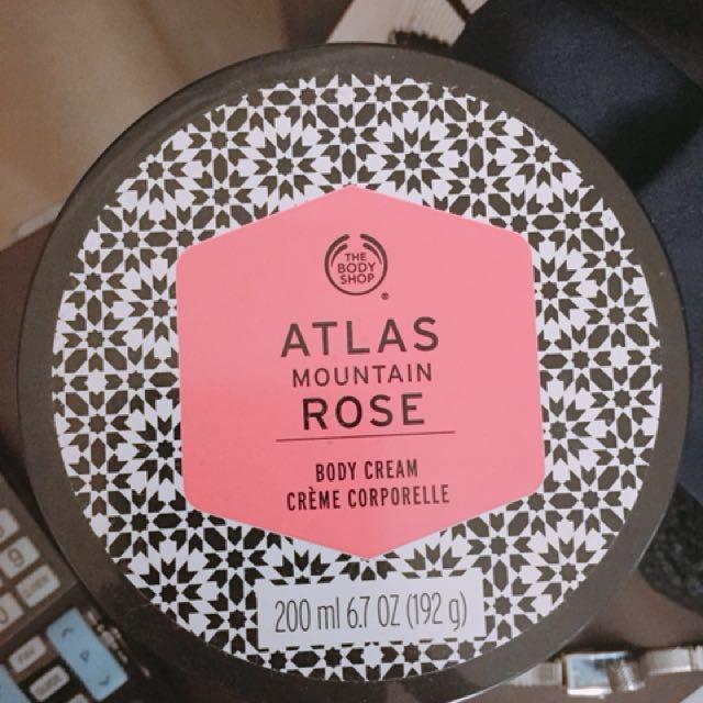 Body Shop rose body cream