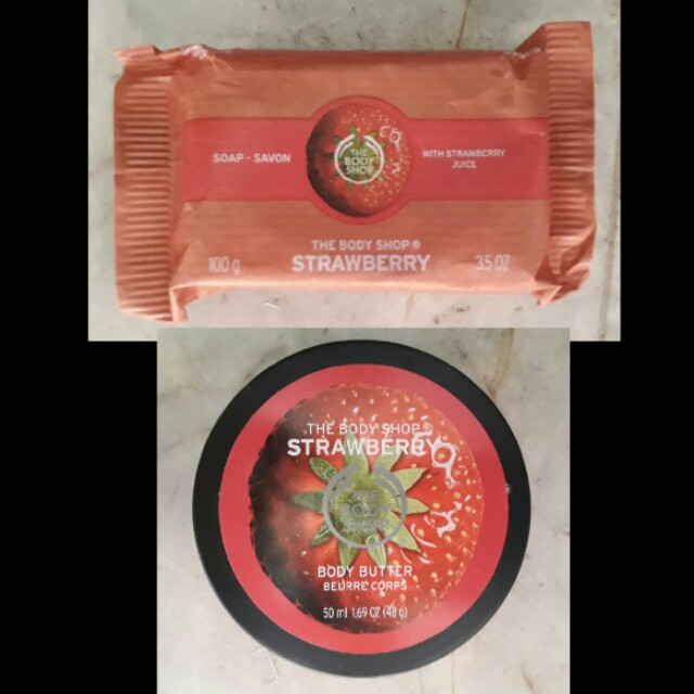 Body shop  soap  and body butter