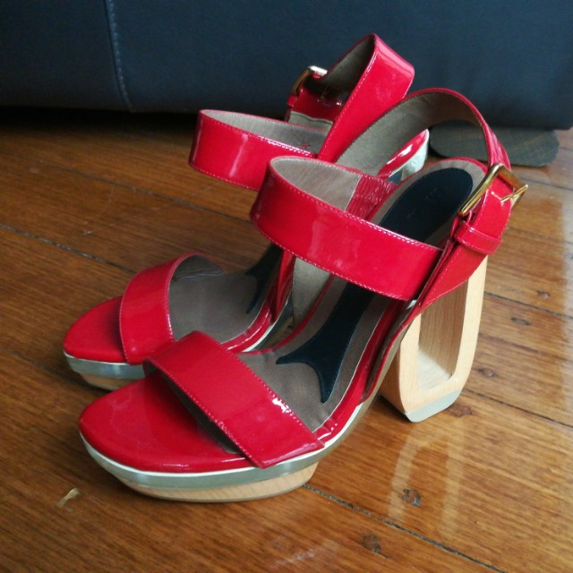 Brand new MARNI patent red leather heels