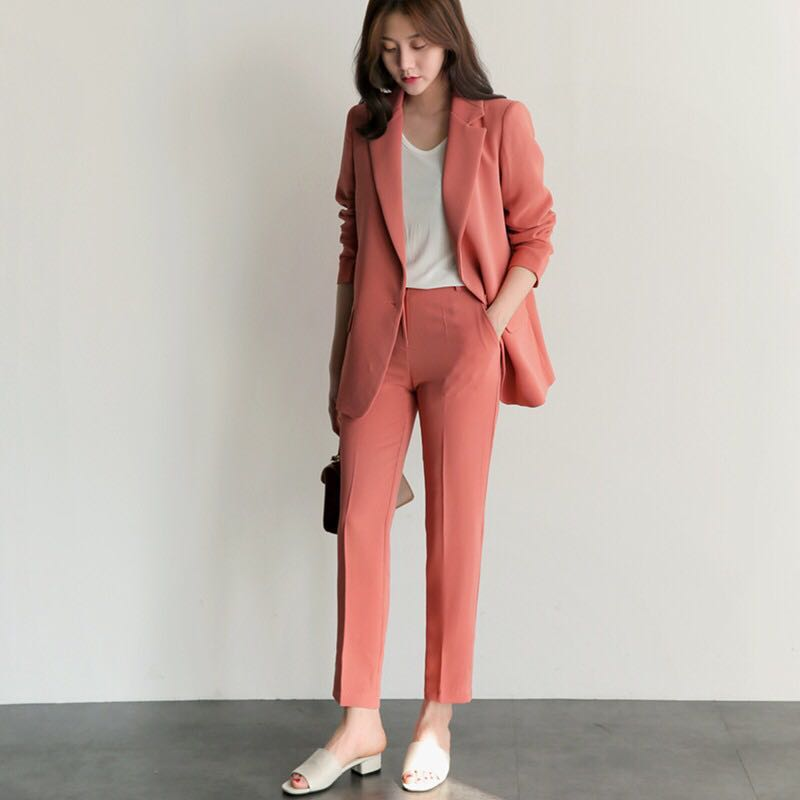BRAND NEW WITH TAG Peach 2 Piece Suit