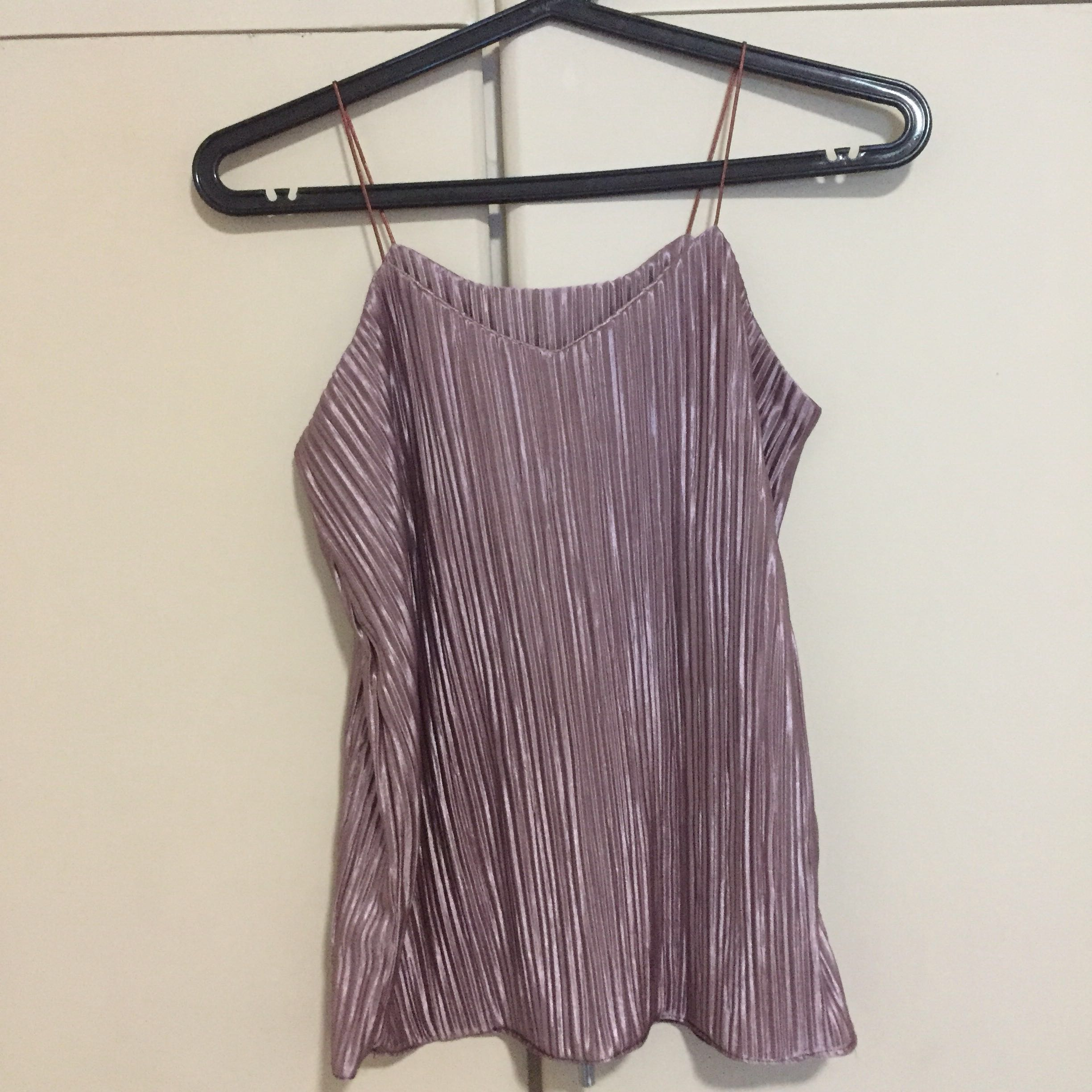 Cami pleated top (Pinkish)