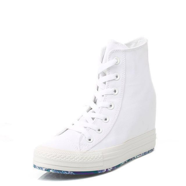 a682475f438a Converse White Chuck Taylor Platform Plus Wedge Trainers