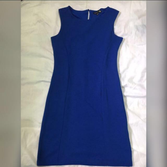 Cotton on blue dress