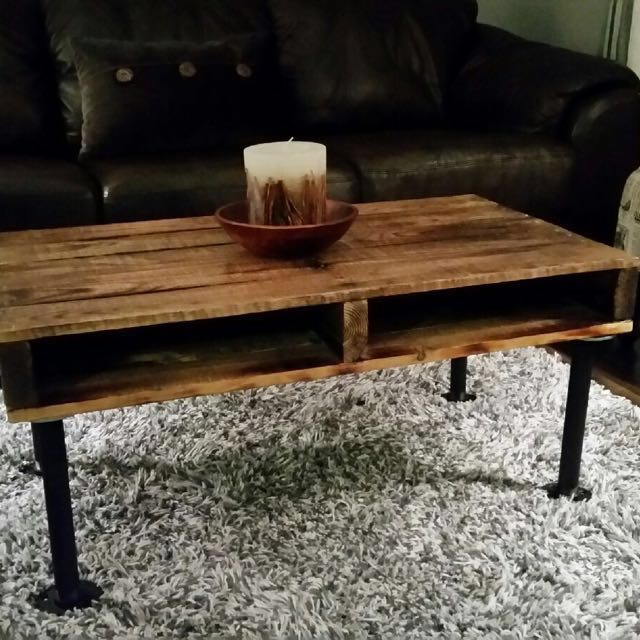 Custom Built Rustic Industrial Pallet Coffee Table