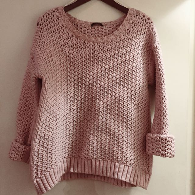Dex Blush Pink Pullover Sweater - Stretch Knit