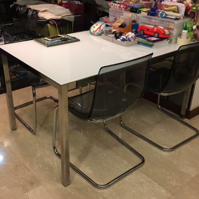 Dining Set   TORSBY / TOBIAS Table U0026 4 Chairs, Furniture, Tables U0026 Chairs  On Carousell