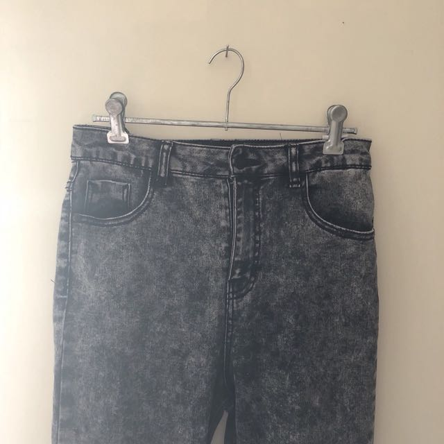 Dotti High Waisted Acid Wash Jeans