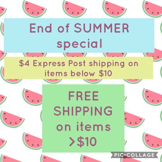 END OF SUMMER SPECIAL!