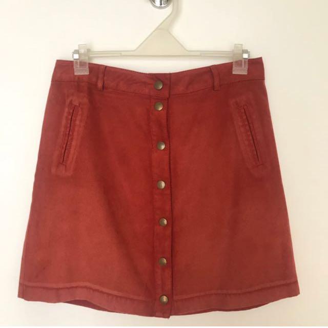 Forever 21 Button Down Mini Skirt
