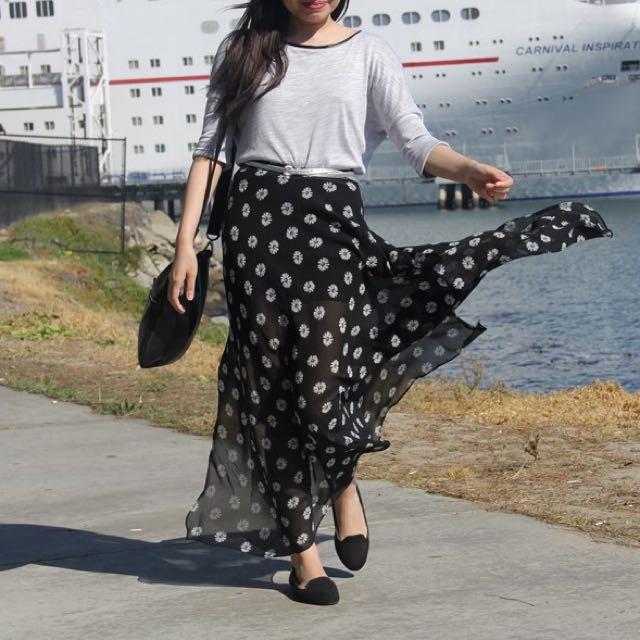 Forever 21 Floral Maxi Skirt