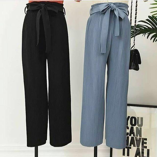 Garterized trousers(Black)