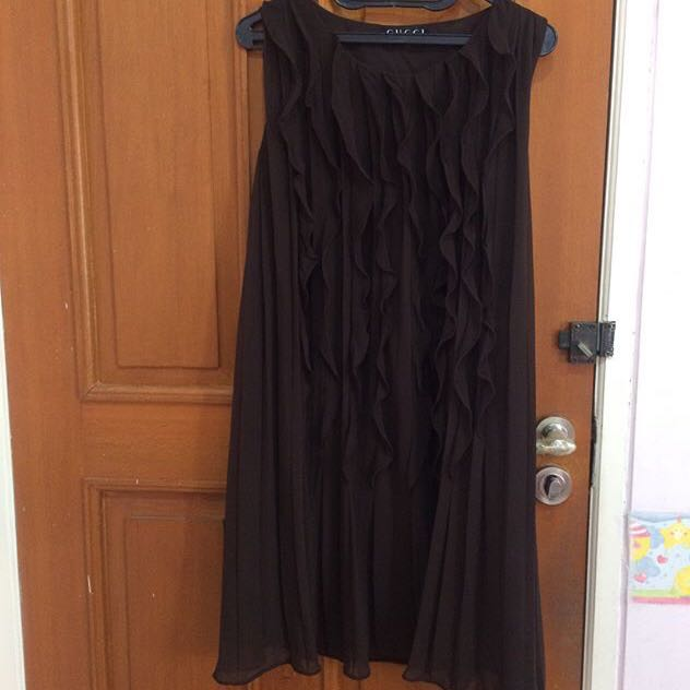 Gucci Brown Flare Dress
