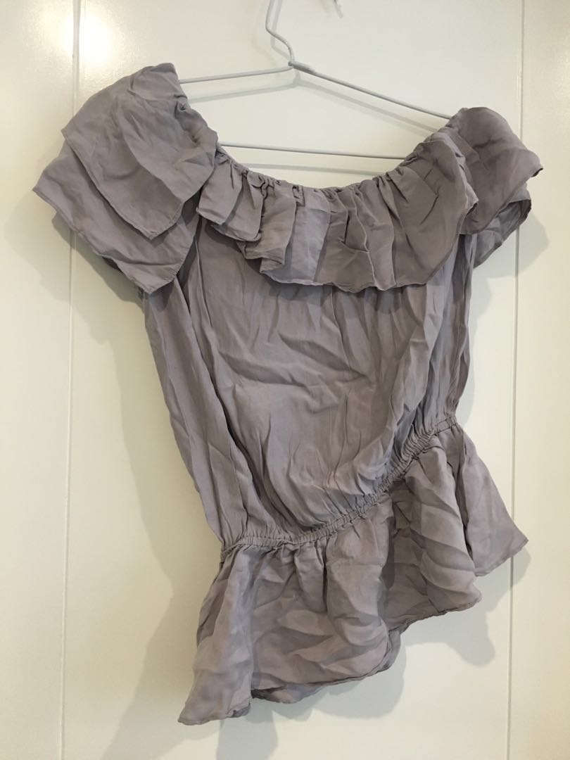 GUESS One-shoulder frill top