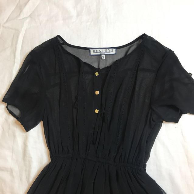 Henley's Black Dress