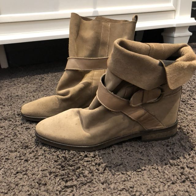 Hobbs suede boots size 37