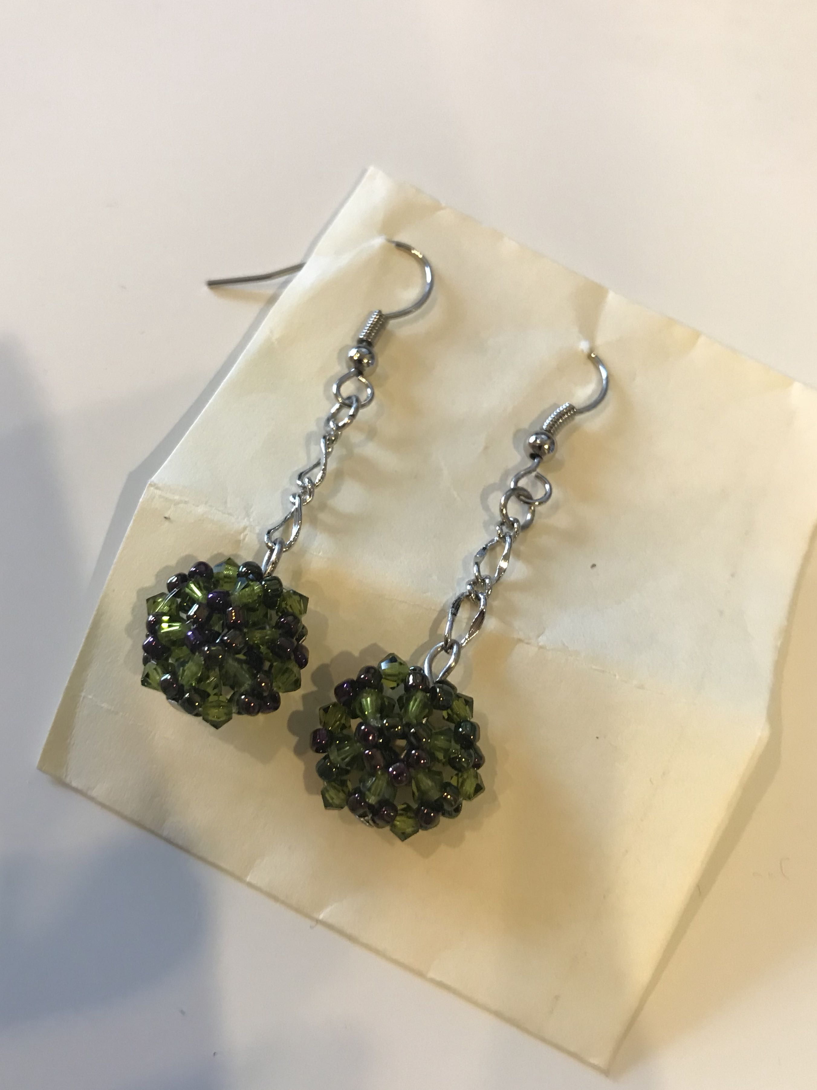 Homemade handcrafted Korean earrings