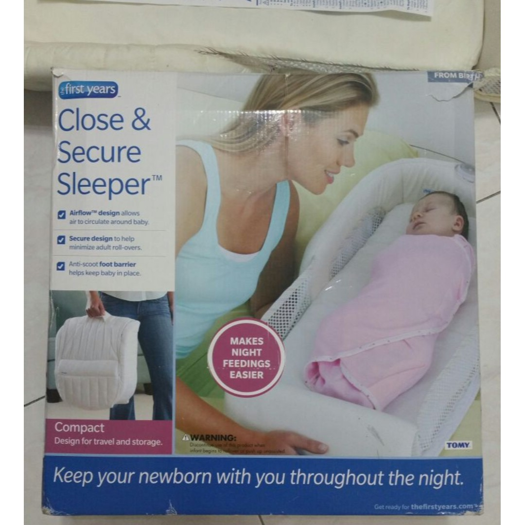 *last offer* Infant sleeper - can be folded up and carried (cream color)
