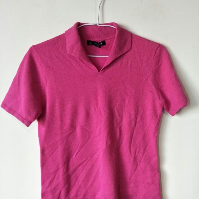 全新jin 粉紅色上衣,安哥拉毛及羊毛,輕又保暖,35肩寬42胸寬51衣長