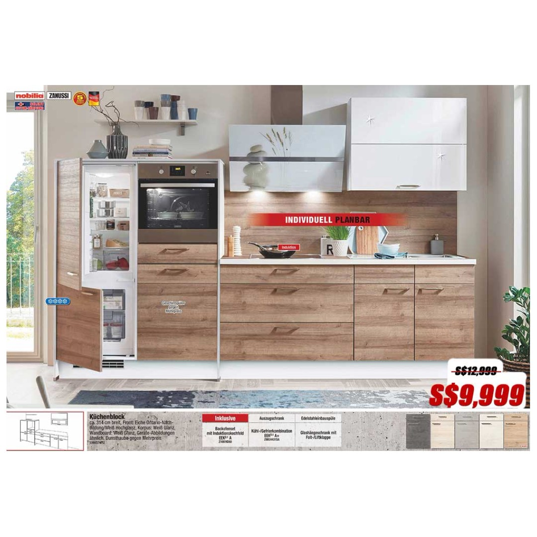 Kitchen cabinet Ontario Oak by Nobilia of Germany, Home Appliances ...