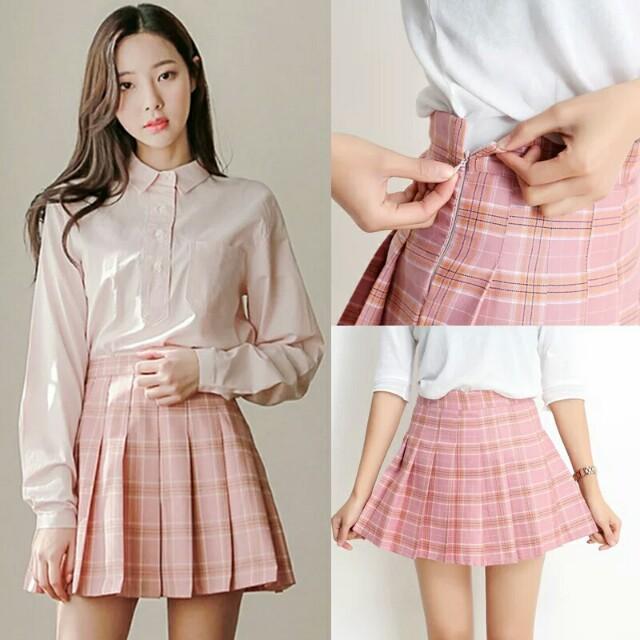 original pleated short skirt