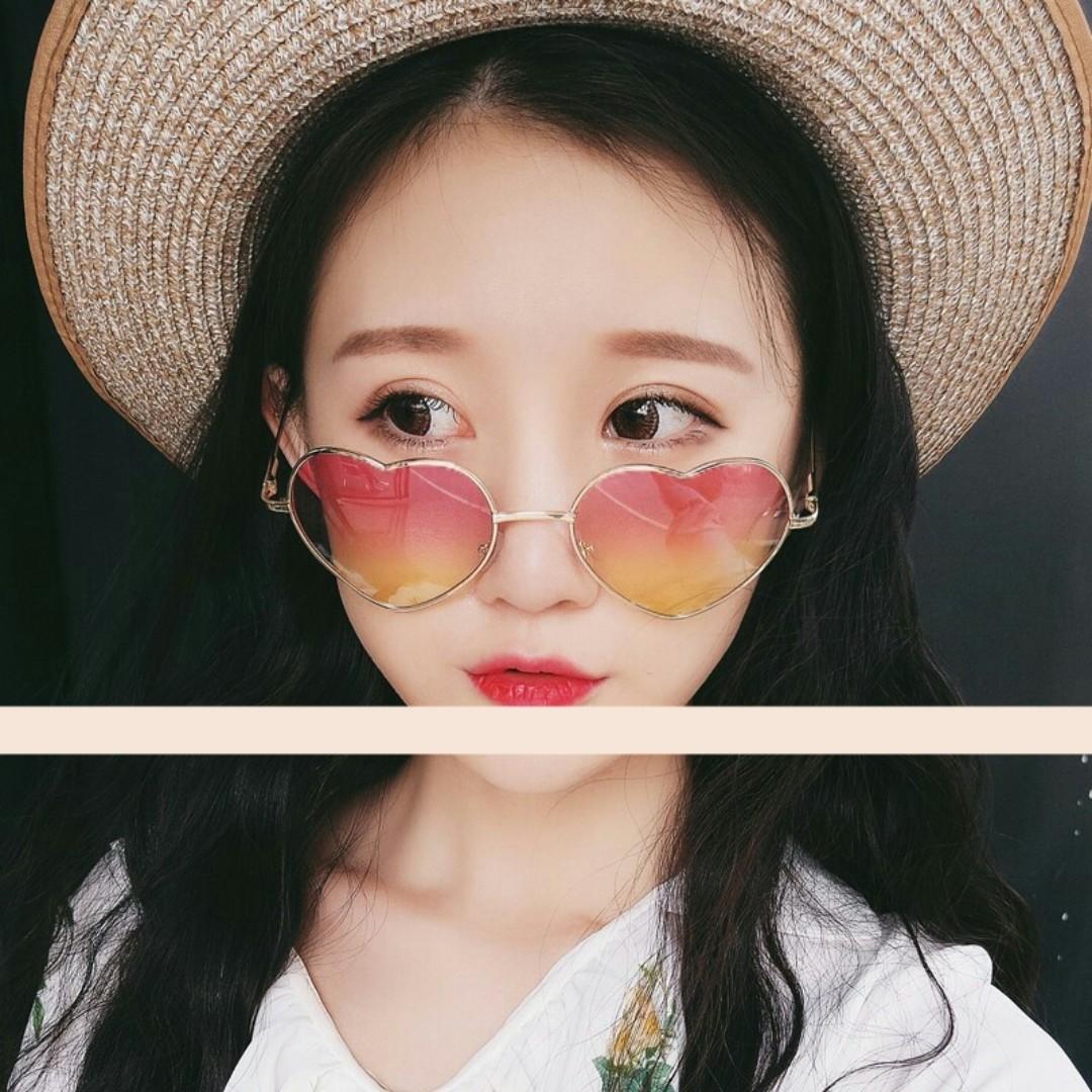 Korean Ulzzang Heart-shaped Women Sunglasses 12