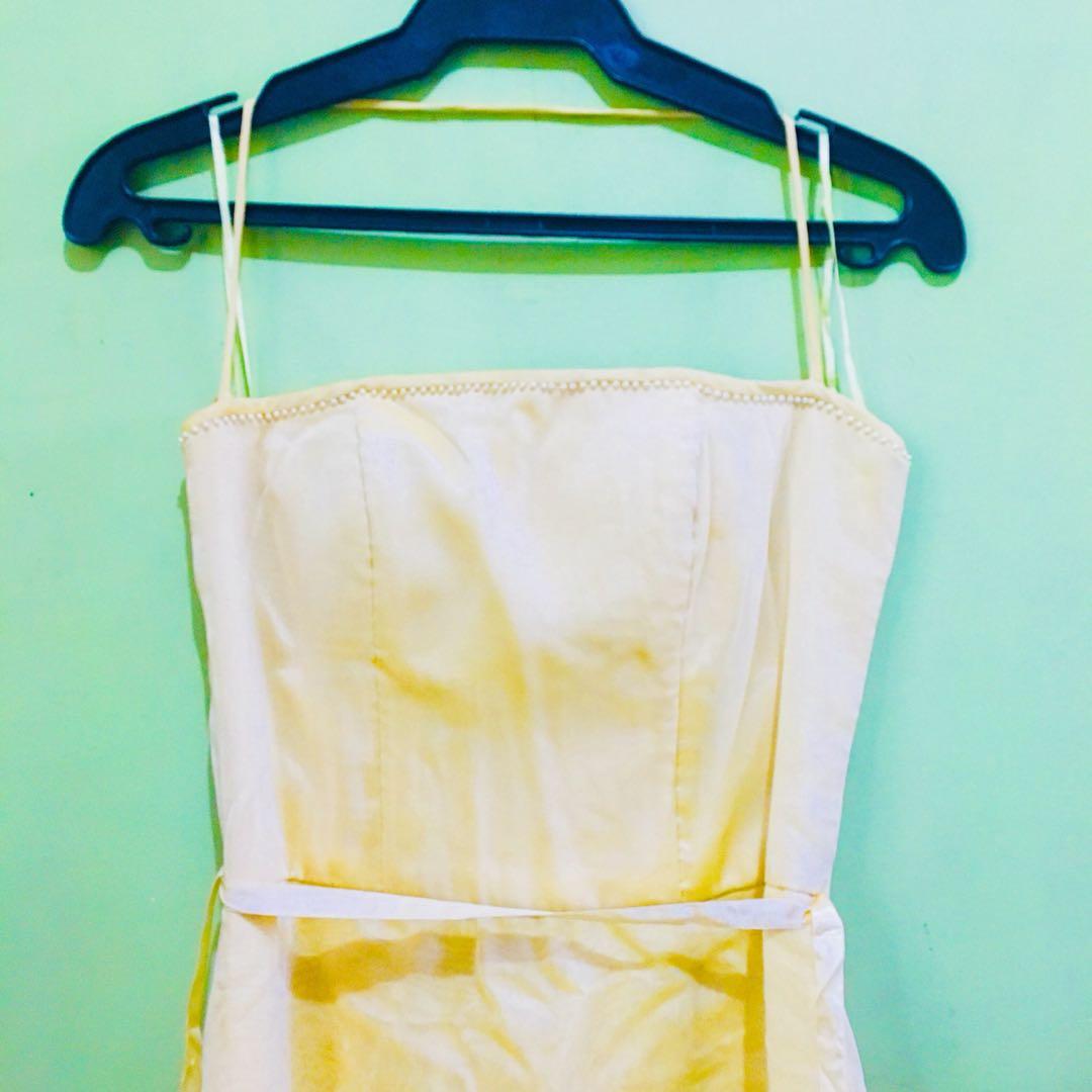 Light Yellow Long Dress / Gown