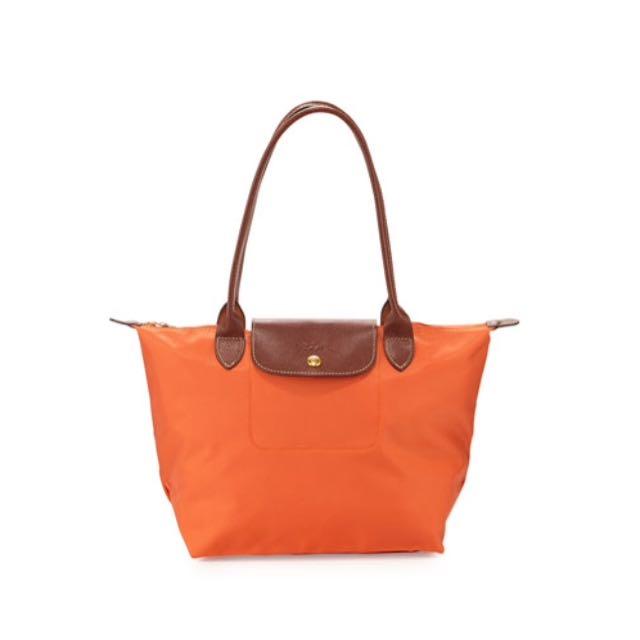 Longchamp Le Pliage Medium Shoulder Tote Bag In Orange