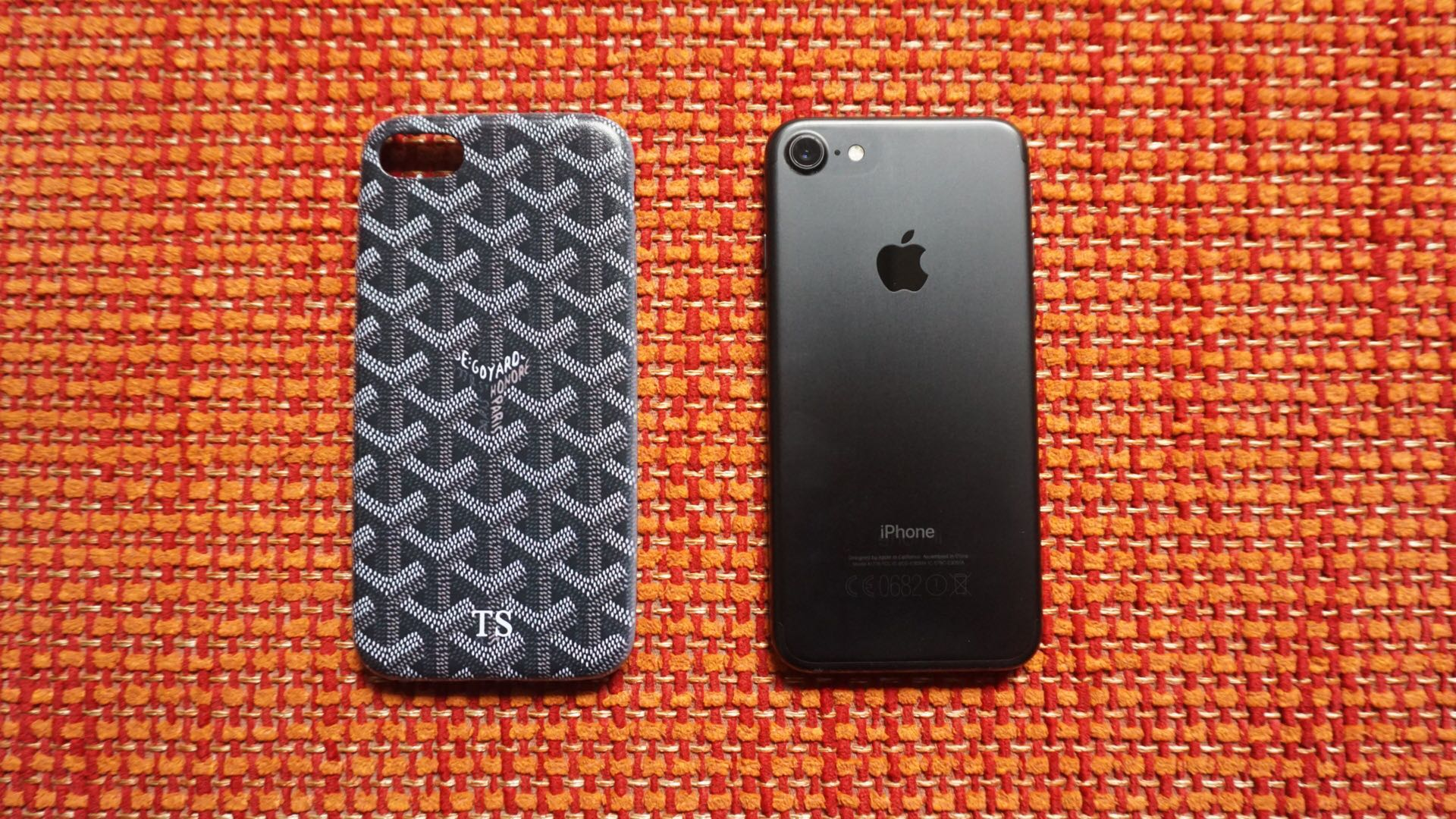 Luxury Goyard Leather Case with TS design for Iphone 7