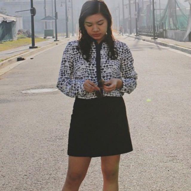 Mango Black Wrap Skirt