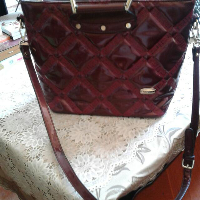 Maroon Handbag w/ Sling