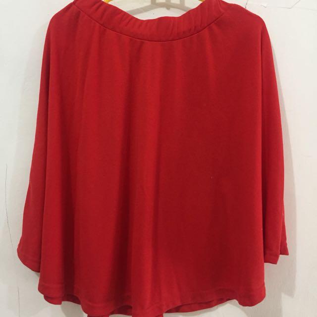 Midi red Skirt