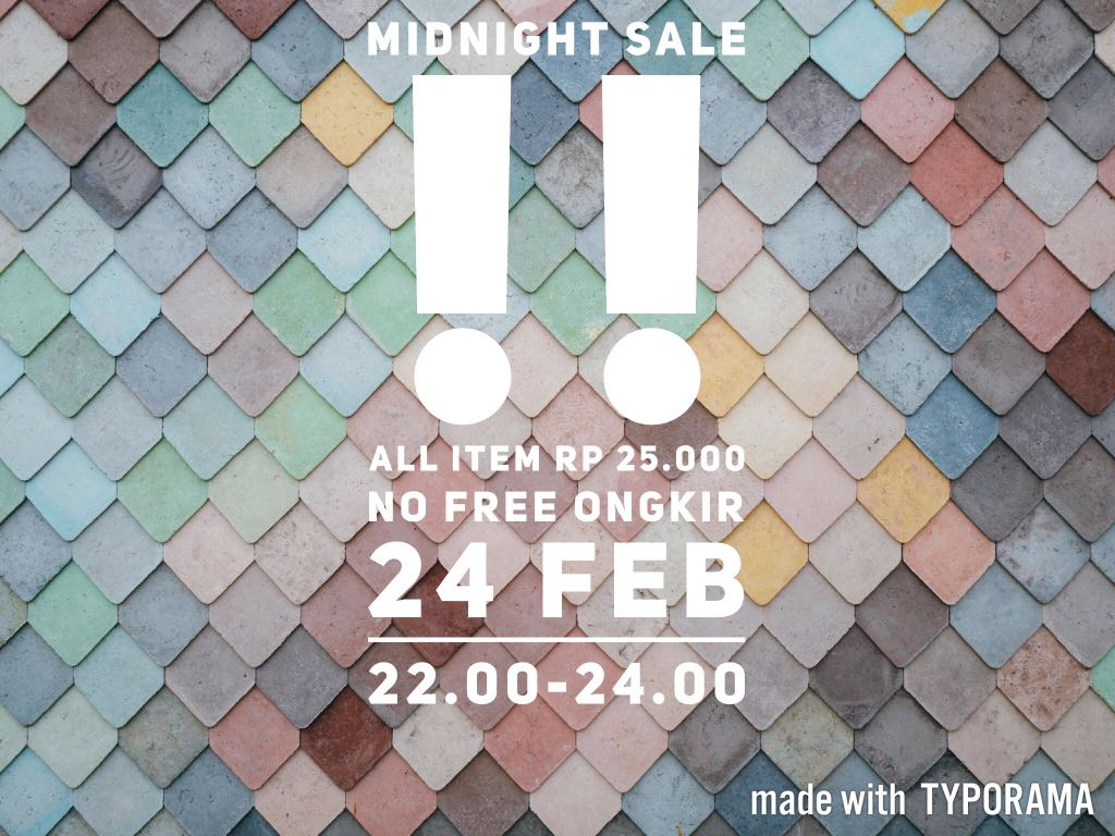 Midnight sale!!