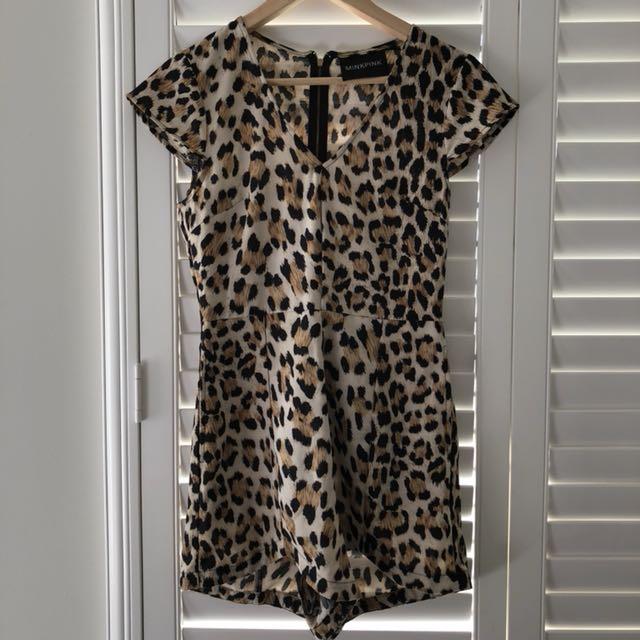 Mink Pink Leopard Jumpsuit / Playsuit XS