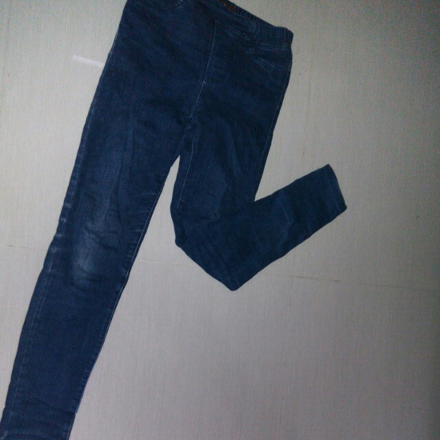 Navy Skinny Jeans No Zipper by Colorbox